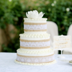 naked buttercream wedding